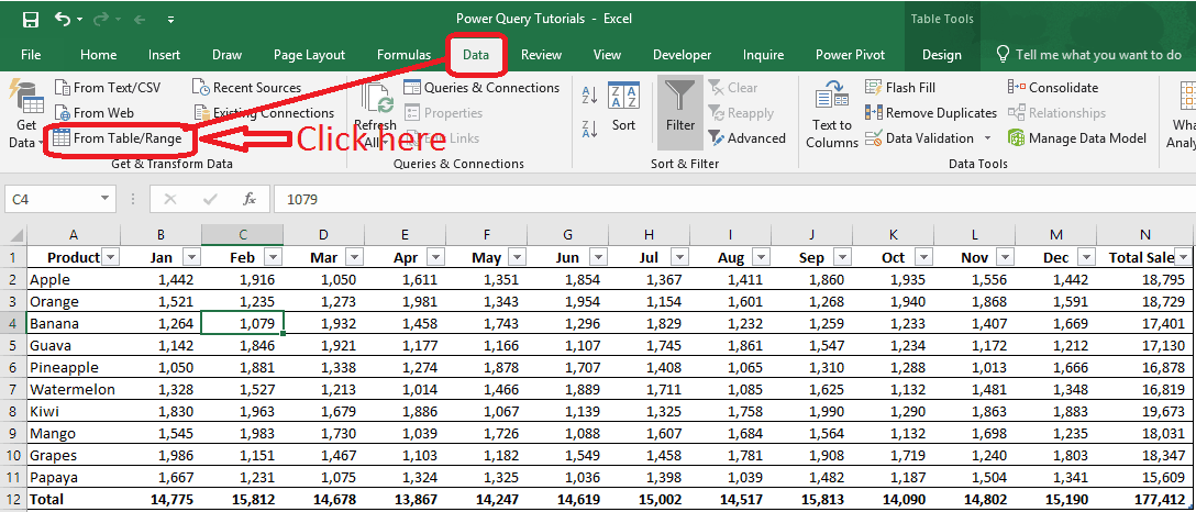 Get Table Range for Power Query