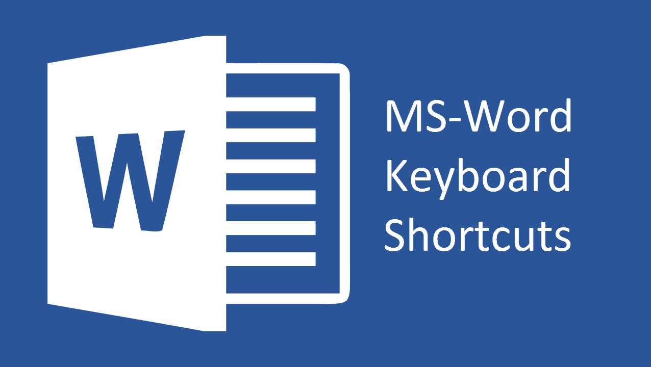 Advance MS-Word Keyboard Shortcuts 2019